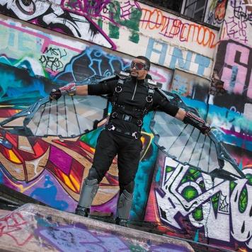 cosplay magazine uk Falcon Marvel cosplay costume avengers comic con MCM