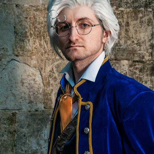 Critical Role Vox Machina Percival DeRolo cosplay uk costume comic con mcm London